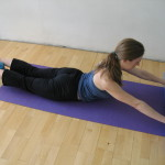 Cobra on foam roller (Tiffany Pritchard Pilates), Image taken by Meghan Horvath at The Place
