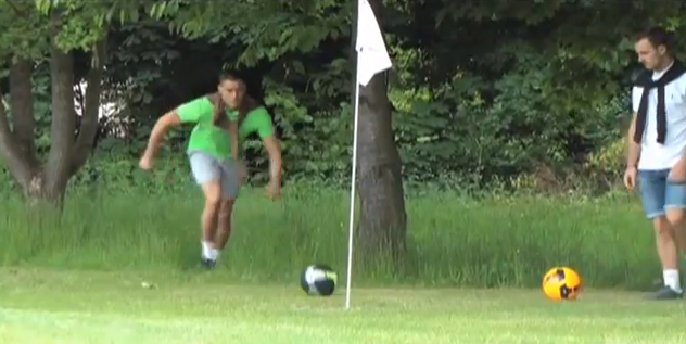 Photo taken from AltFitHealth - Foot Golf video