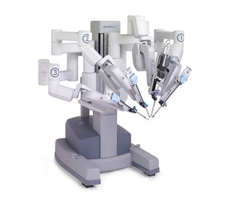 Image of a Da Vinci Robot, supplied by Institute Surgical