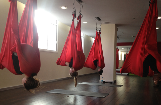 AntiGravity Yoga at Virgin Active Health Clubs.  Instructor - Nuno Campos.